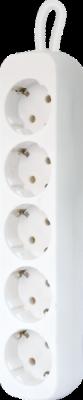НОВИНКА. Удлинитель с заземлением E518 1.8 м, 5 розеток