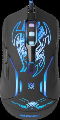 Проводная игровая мышь Defender Bionic GM-250L оптика,6кнопок,800-3200dpi
