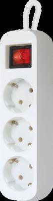 НОВИНКА. Удлинитель с заземлением S318 Выключатель, 1.8 м, 3 розетки
