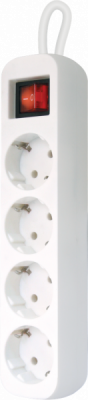 НОВИНКА. Удлинитель с заземлением S450 Выключатель, 5.0 м, 4 розетки