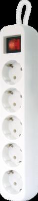 НОВИНКА. Удлинитель с заземлением S550 Выключатель, 5.0 м, 5 розеток