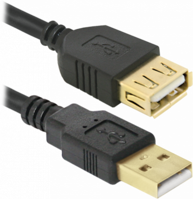 USB кабель Defender USB02-10PRO USB2.0 AM-AF, 3.0м