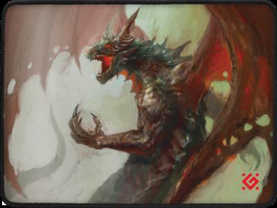 НОВИНКА. Игровой коврик Dragon Rage M 360x270x3 мм, ткань + резина